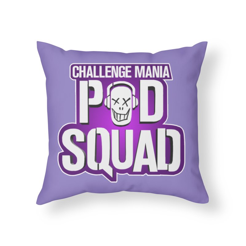 Pod Squad Home Throw Pillow by Challenge Mania Shop