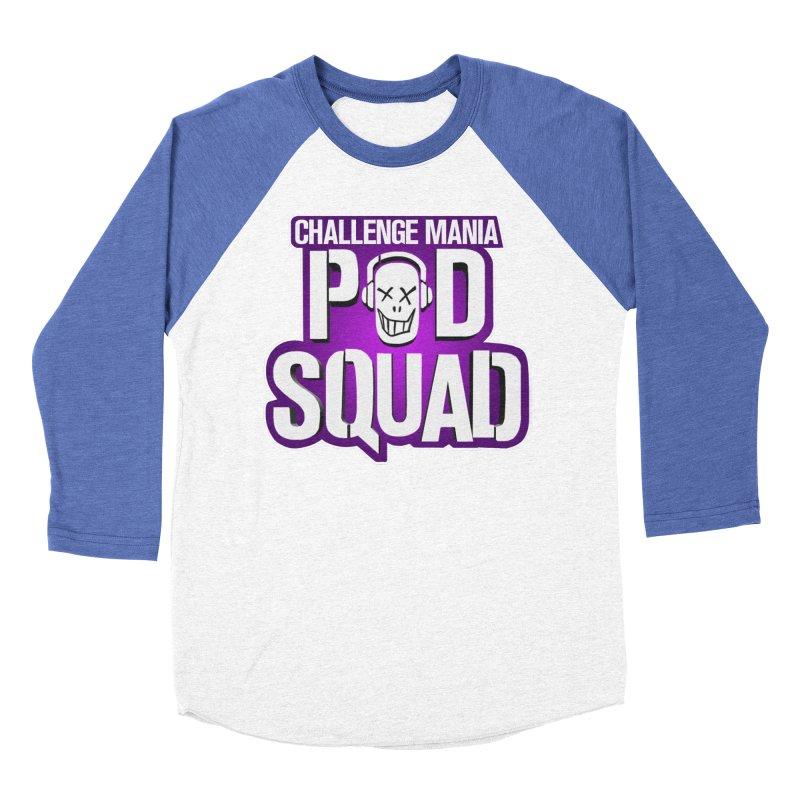 Pod Squad Men's Baseball Triblend Longsleeve T-Shirt by Challenge Mania Shop