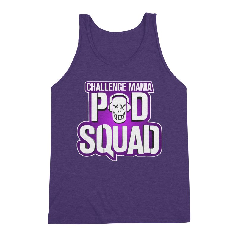 Pod Squad Men's Triblend Tank by Challenge Mania Shop