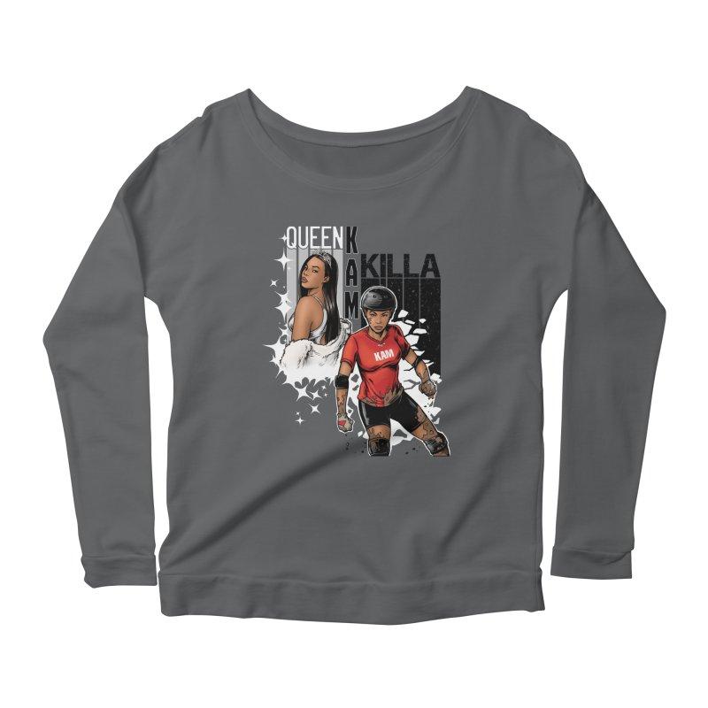 KAM Women's Scoop Neck Longsleeve T-Shirt by Challenge Mania Shop