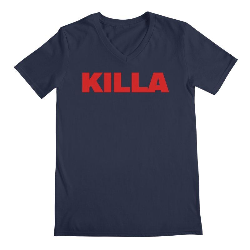 KILLA Men's V-Neck by Challenge Mania Shop