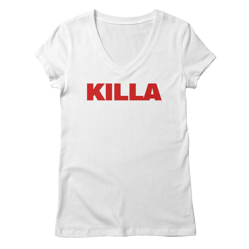 KILLA Women's Regular V-Neck by Challenge Mania Shop