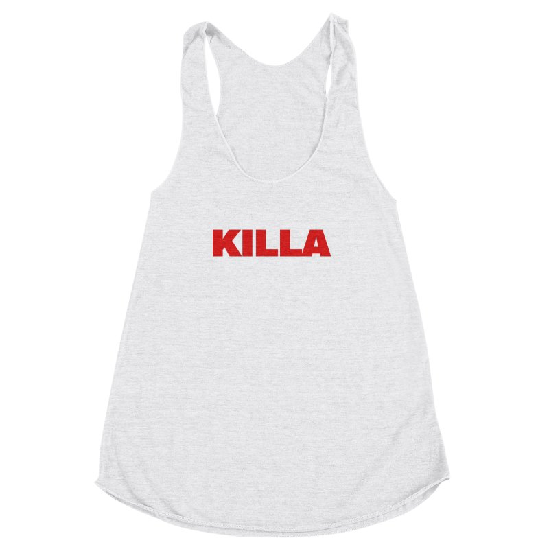 KILLA Women's Racerback Triblend Tank by Challenge Mania Shop