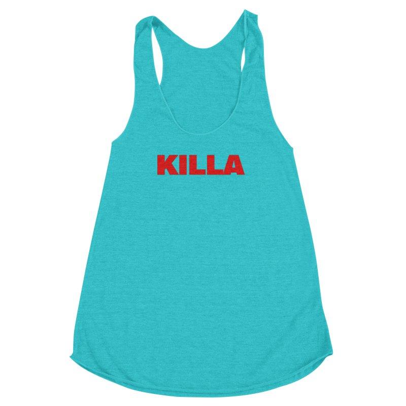 KILLA Women's Racerback Triblend Tank by Challenge Mania Shop