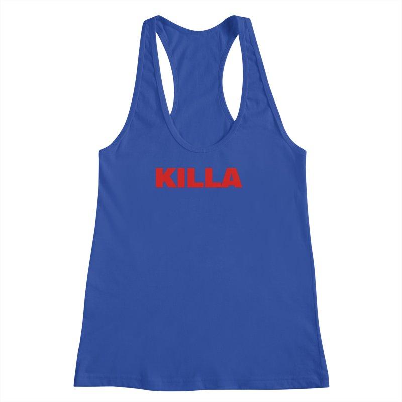 KILLA Women's Racerback Tank by Challenge Mania Shop