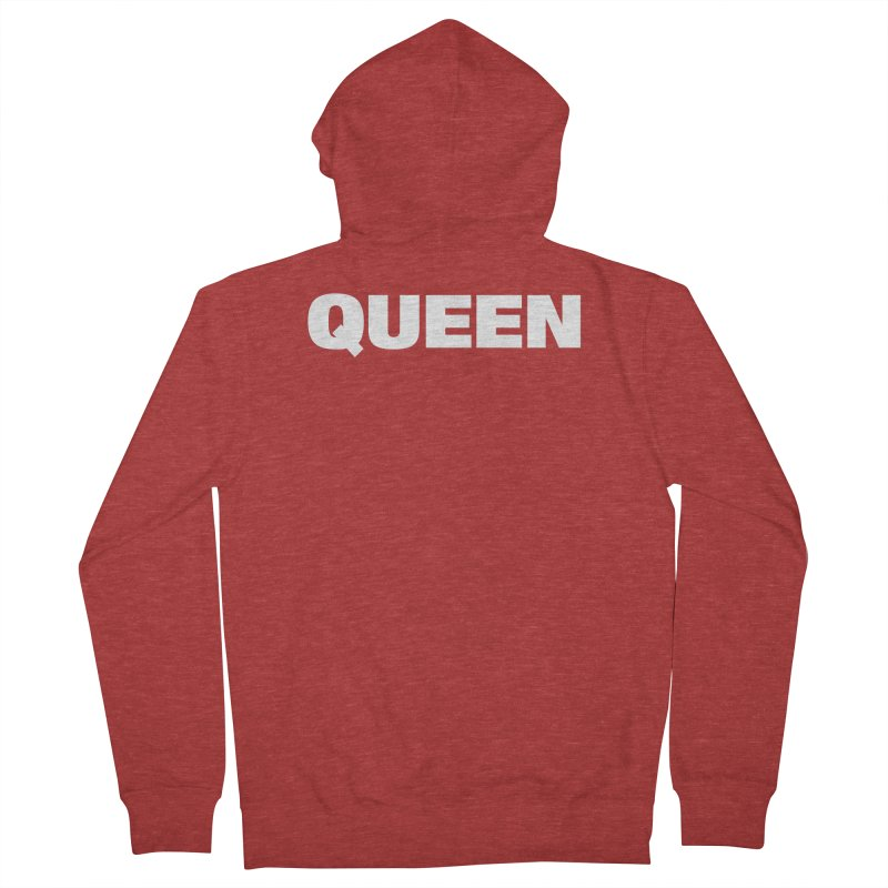 QUEEN Women's French Terry Zip-Up Hoody by Challenge Mania Shop