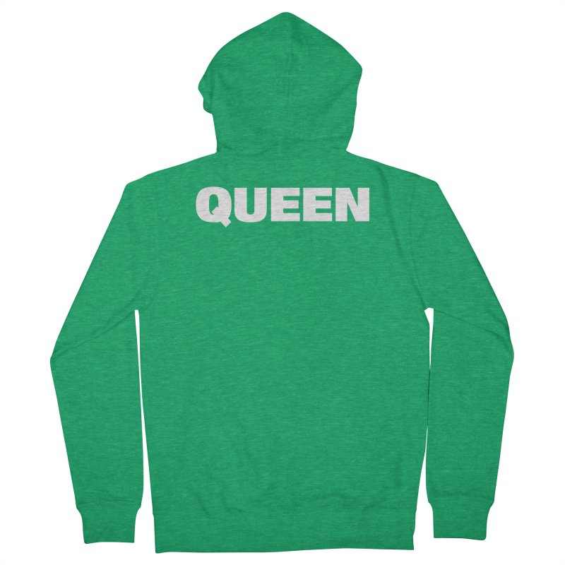 QUEEN Men's French Terry Zip-Up Hoody by Challenge Mania Shop