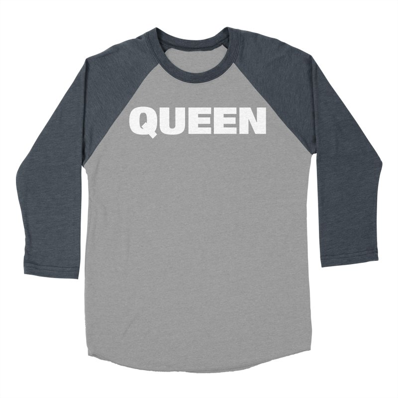 QUEEN Women's Baseball Triblend Longsleeve T-Shirt by Challenge Mania Shop