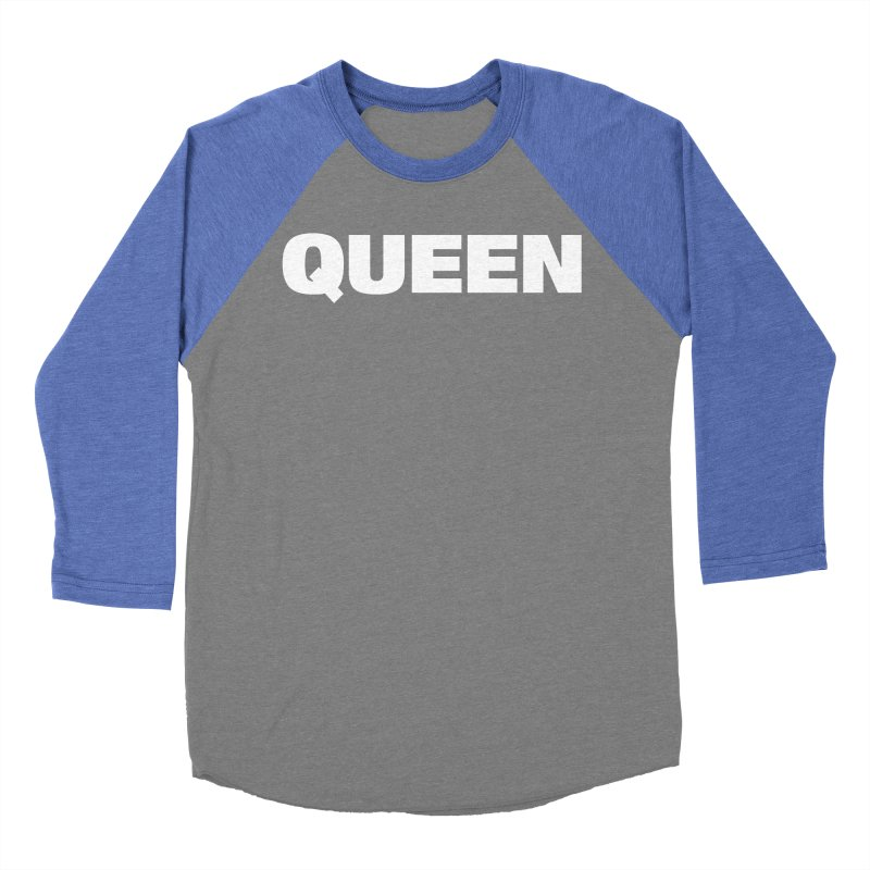 QUEEN Men's Baseball Triblend Longsleeve T-Shirt by Challenge Mania Shop