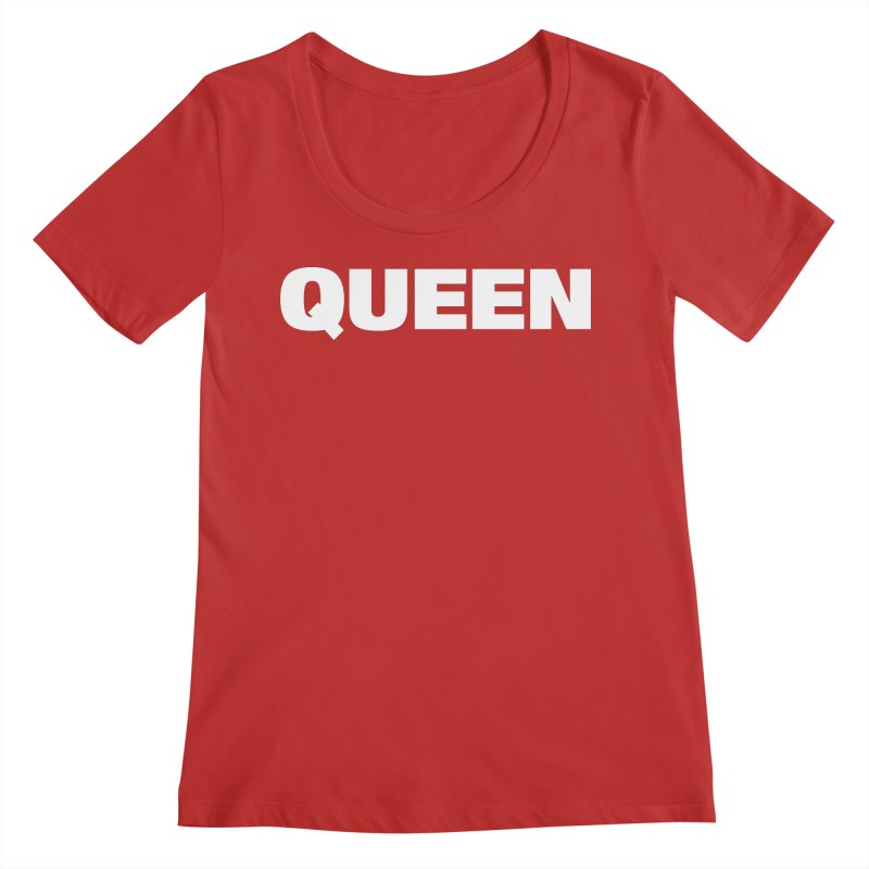 QUEEN Women's Regular Scoop Neck by Challenge Mania Shop