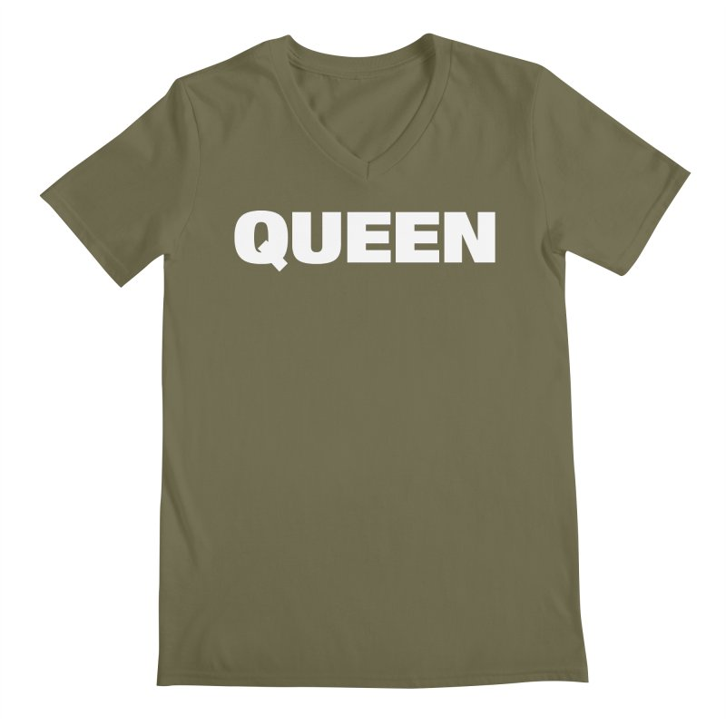 QUEEN Men's Regular V-Neck by Challenge Mania Shop