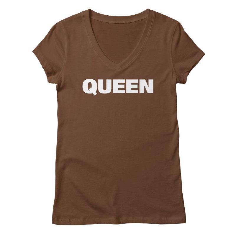QUEEN Women's Regular V-Neck by Challenge Mania Shop