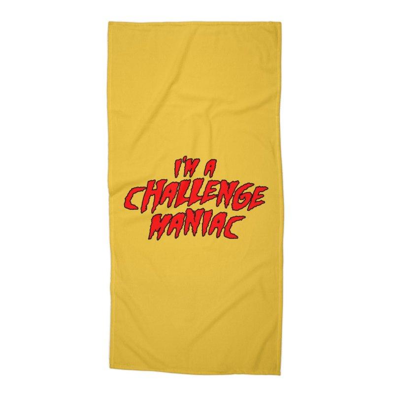 Challenge Maniac Accessories Beach Towel by Challenge Mania Shop