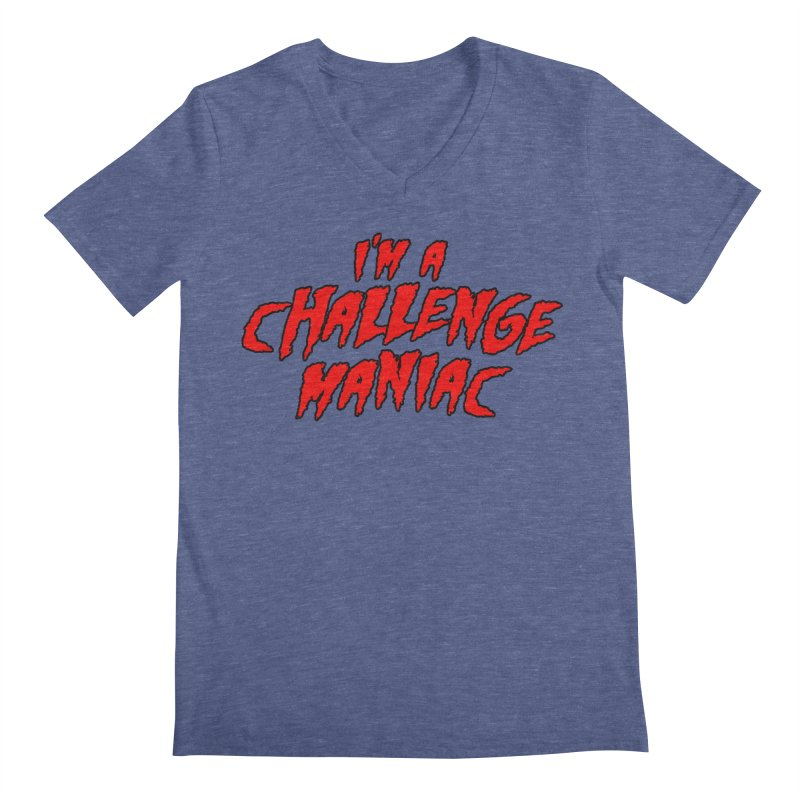 Challenge Maniac Men's Regular V-Neck by Challenge Mania Shop