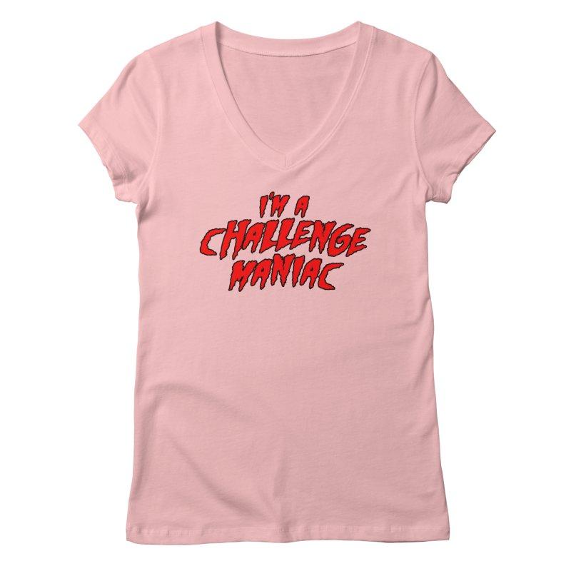 Challenge Maniac Women's Regular V-Neck by Challenge Mania Shop