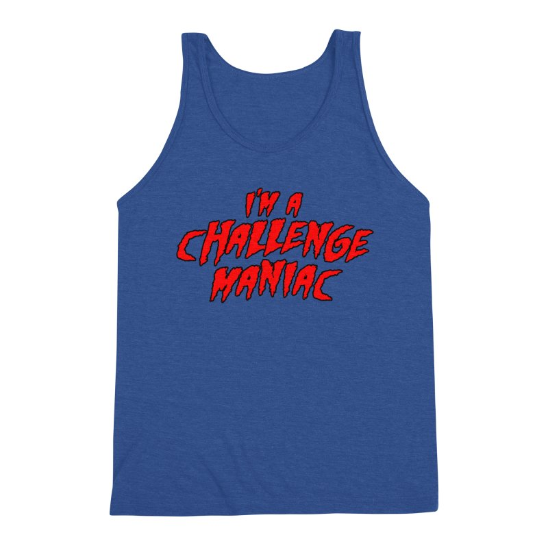 Challenge Maniac Men's Triblend Tank by Challenge Mania Shop
