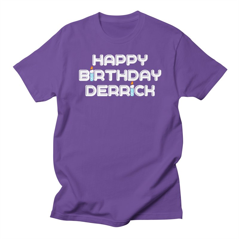 Happy Birthday Derrick Men's T-Shirt by Challenge Mania Shop