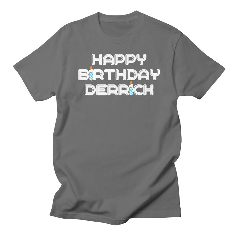 Happy Birthday Derrick Men's T-Shirt by Challenge Mania Shop