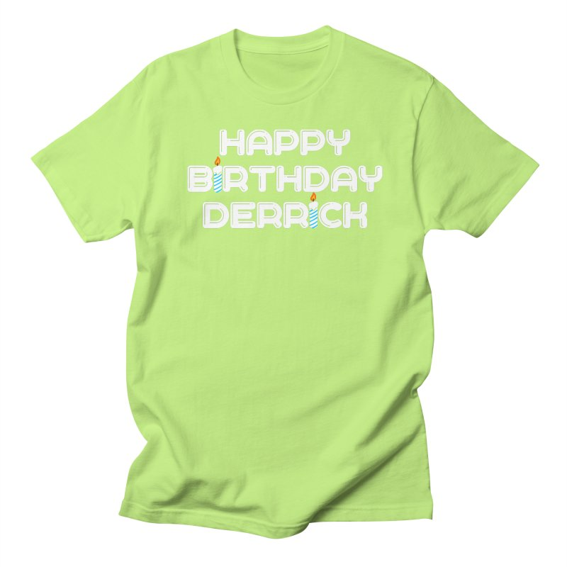 Happy Birthday Derrick Men's Regular T-Shirt by Challenge Mania Shop