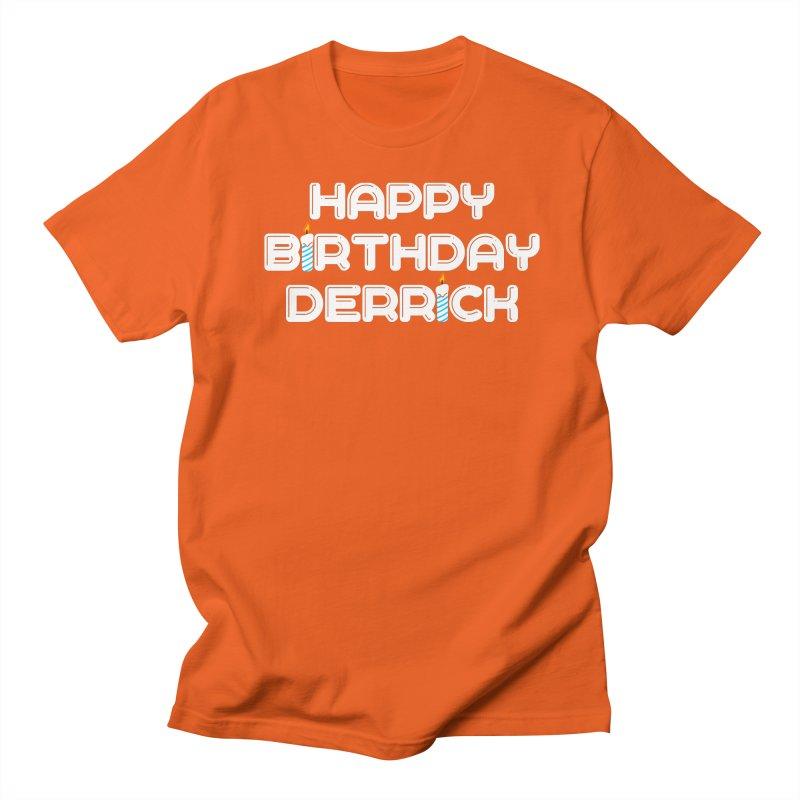 Happy Birthday Derrick Women's Regular Unisex T-Shirt by Challenge Mania Shop