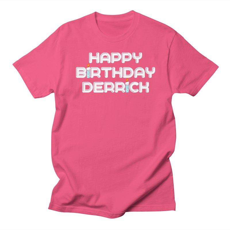 Happy Birthday Derrick Men's Regular T-Shirt by Challenge Mania Shop