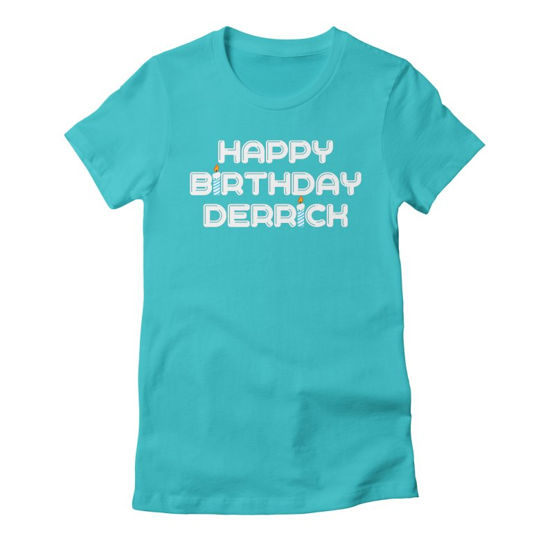 Happy Birthday Derrick Women's T-Shirt by Challenge Mania Shop