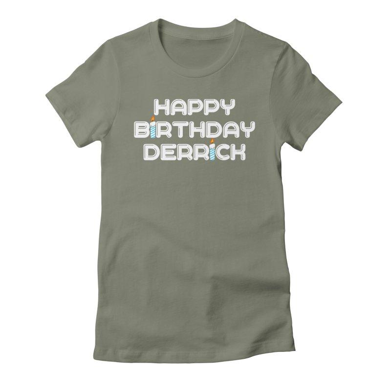 Happy Birthday Derrick Women's T-Shirt by Challenge Mania Shop
