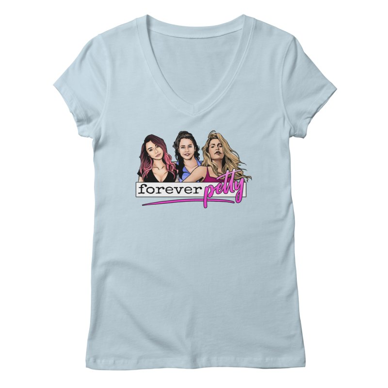 Forever Petty Women's Regular V-Neck by Challenge Mania Shop