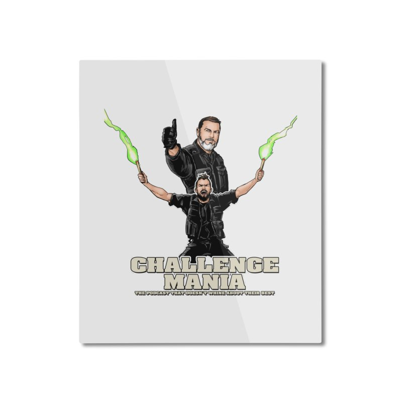 Challenge Mania Rocks! Home Mounted Aluminum Print by Challenge Mania Shop