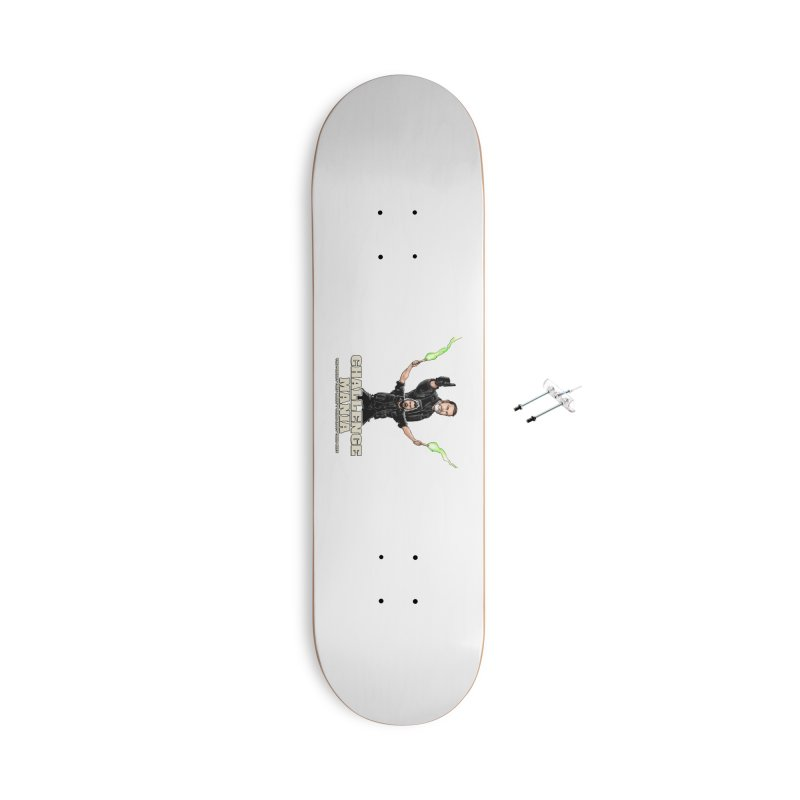 Challenge Mania Rocks! Accessories With Hanging Hardware Skateboard by Challenge Mania Shop