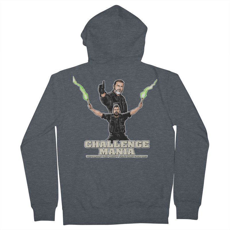 Challenge Mania Rocks! Men's French Terry Zip-Up Hoody by Challenge Mania Shop