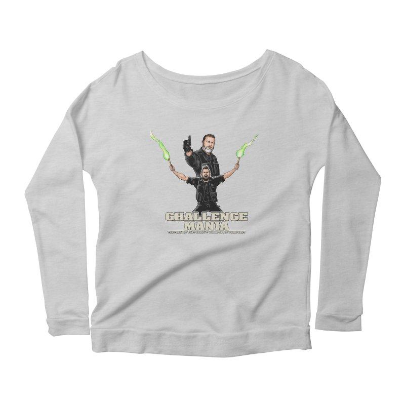 Challenge Mania Rocks! Women's Scoop Neck Longsleeve T-Shirt by Challenge Mania Shop