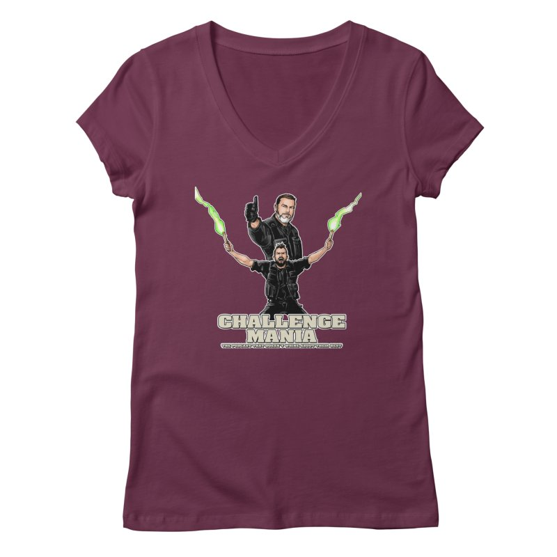 Challenge Mania Rocks! Women's Regular V-Neck by Challenge Mania Shop