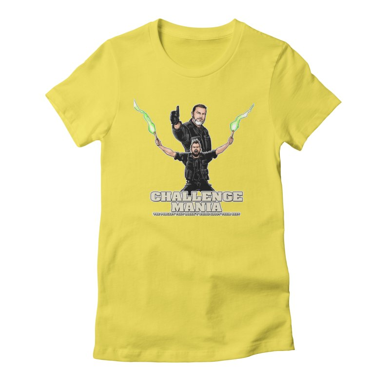 Challenge Mania Rocks! Women's Fitted T-Shirt by Challenge Mania Shop