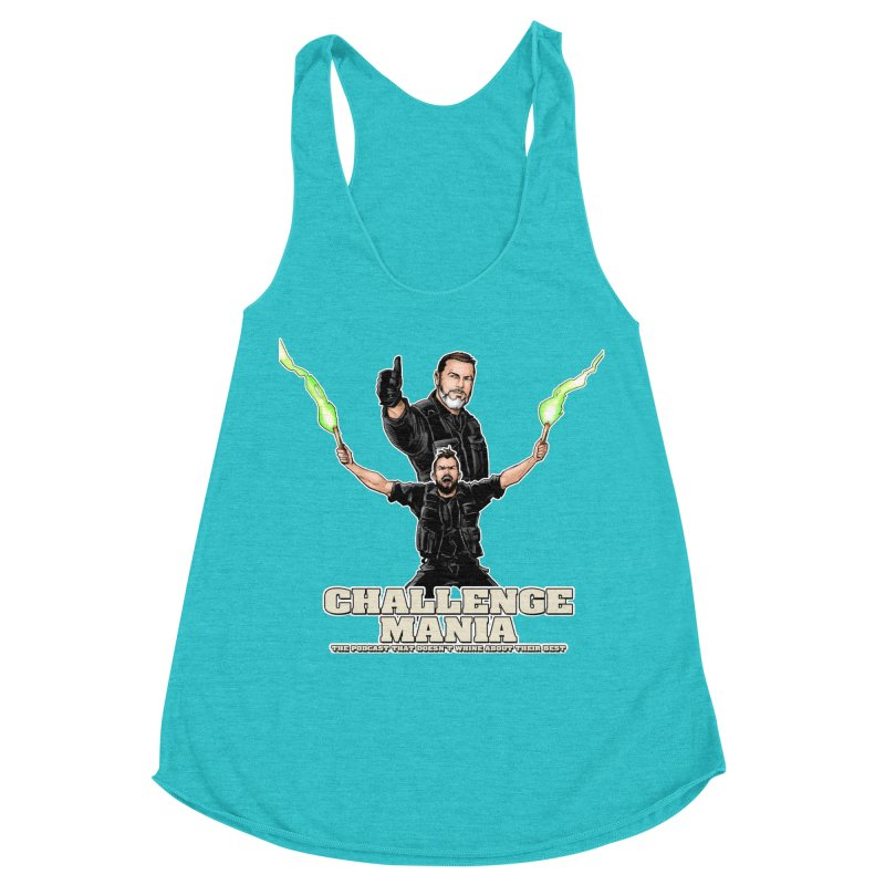 Challenge Mania Rocks! Women's Racerback Triblend Tank by Challenge Mania Shop