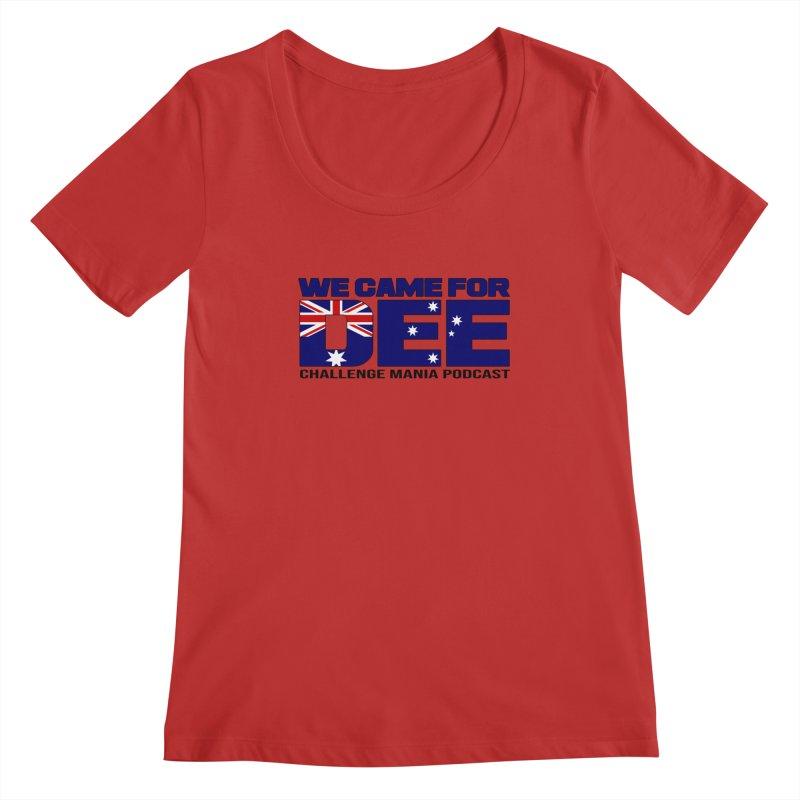 Come for DEE Women's Regular Scoop Neck by Challenge Mania Shop