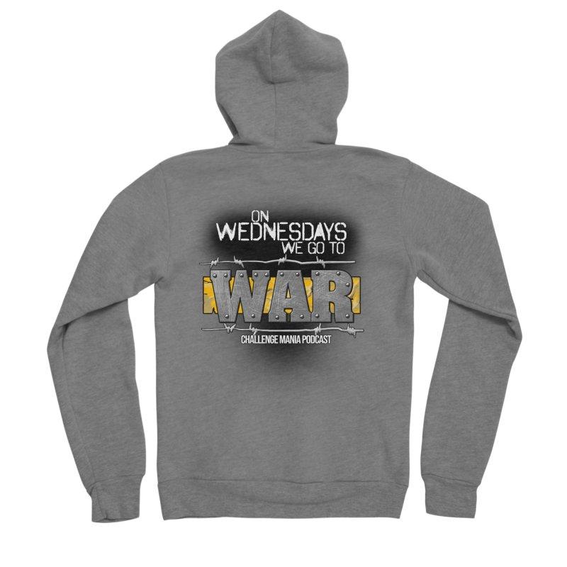 WE GO TO WAR! Men's Sponge Fleece Zip-Up Hoody by Challenge Mania Shop