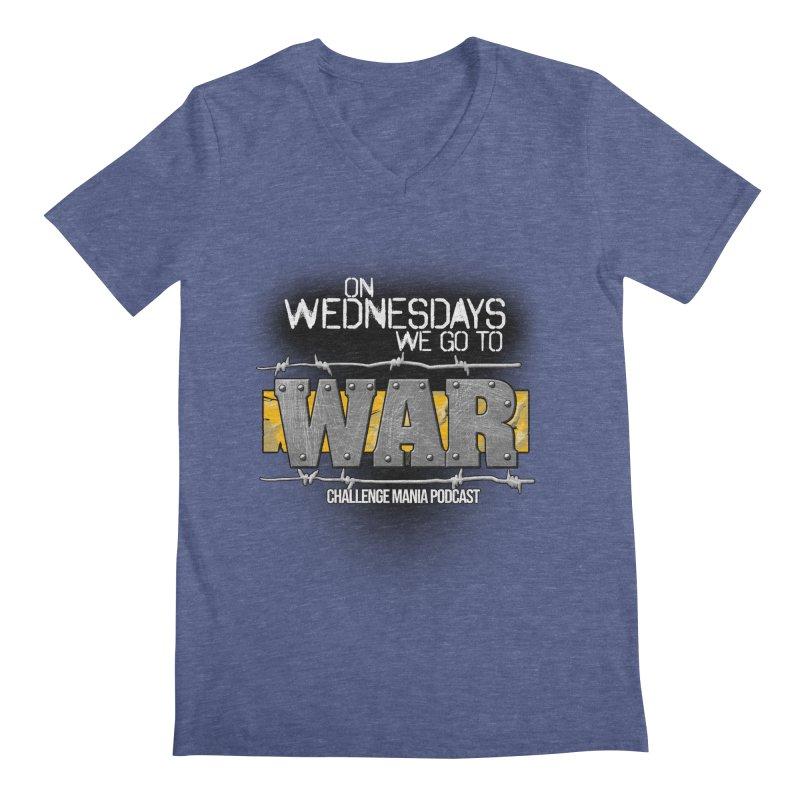 WE GO TO WAR! Men's Regular V-Neck by Challenge Mania Shop