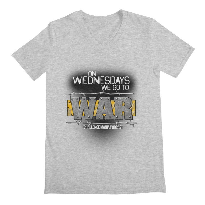 WE GO TO WAR! Men's Regular V-Neck by Challenge Mania Shop