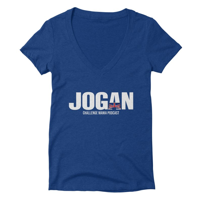 JOGAN Women's Deep V-Neck V-Neck by Challenge Mania Shop