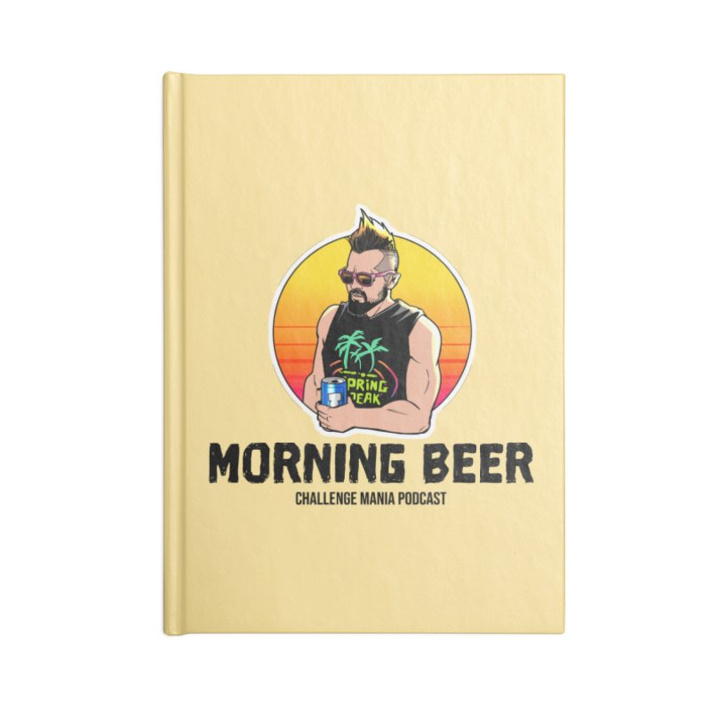 Morning Beer (Black) Accessories Notebook by Challenge Mania Shop