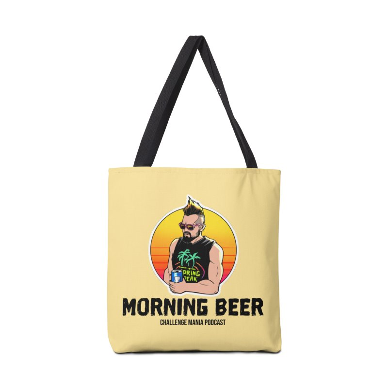 Morning Beer (Black) Accessories Bag by Challenge Mania Shop