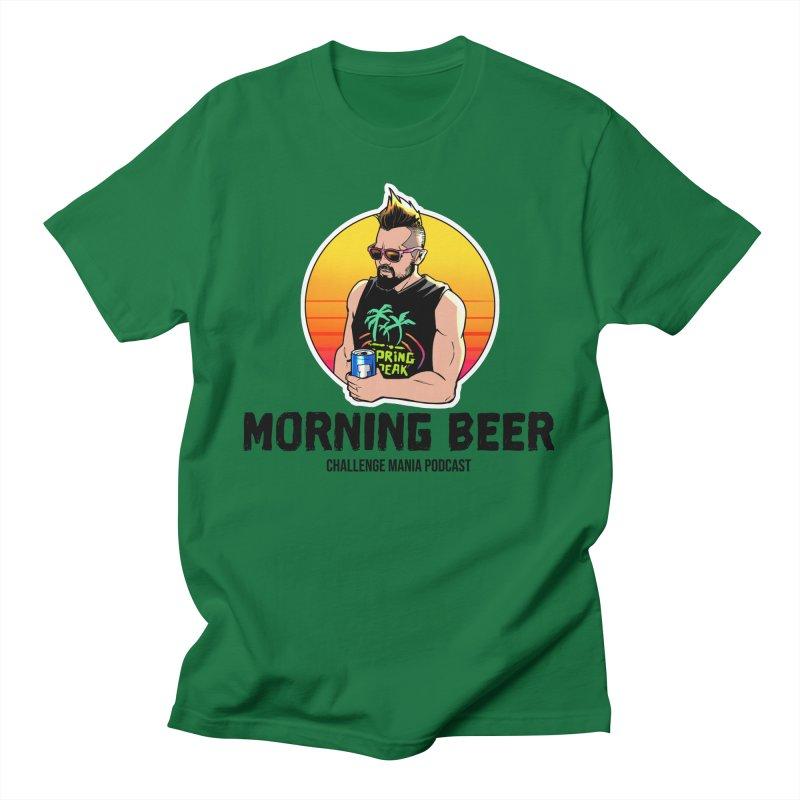 Morning Beer (Black) Men's T-Shirt by Challenge Mania Shop