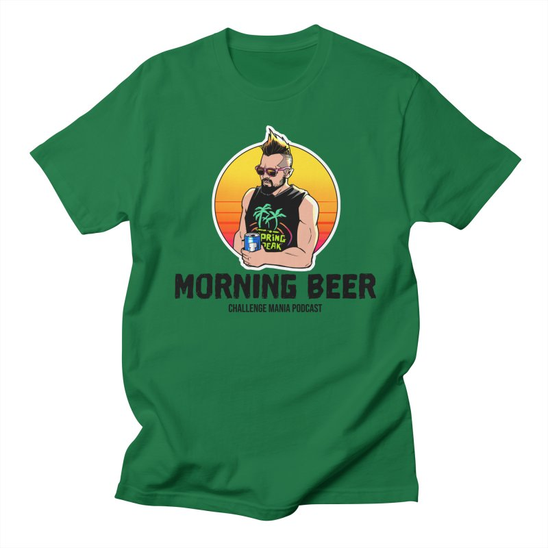 Morning Beer (Black) Men's T-Shirt by Challenge Mania Shop