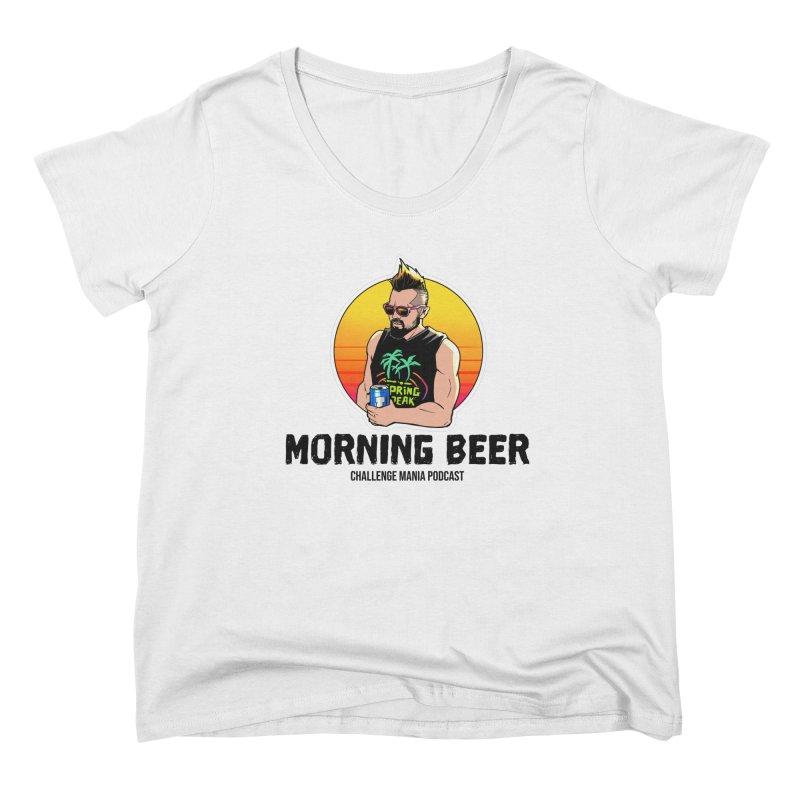 Morning Beer (Black) Women's Scoop Neck by Challenge Mania Shop
