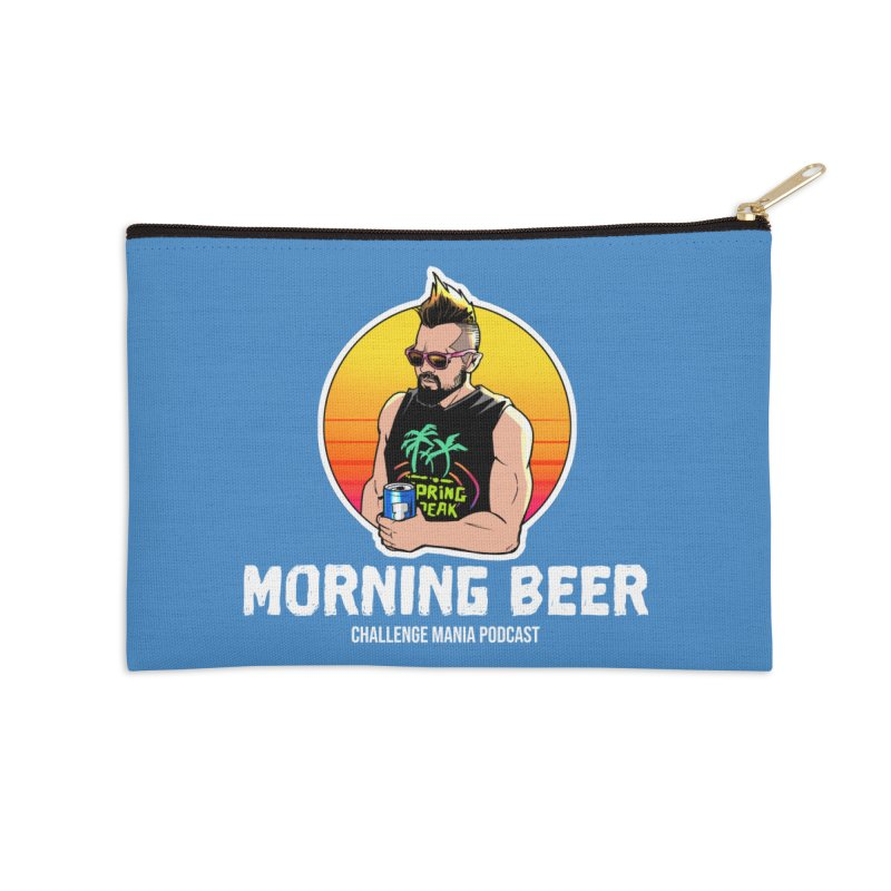 Morning Beer (White) Accessories Zip Pouch by Challenge Mania Shop