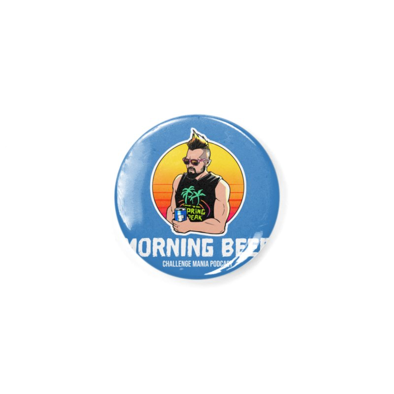 Morning Beer (White) Accessories Button by Challenge Mania Shop