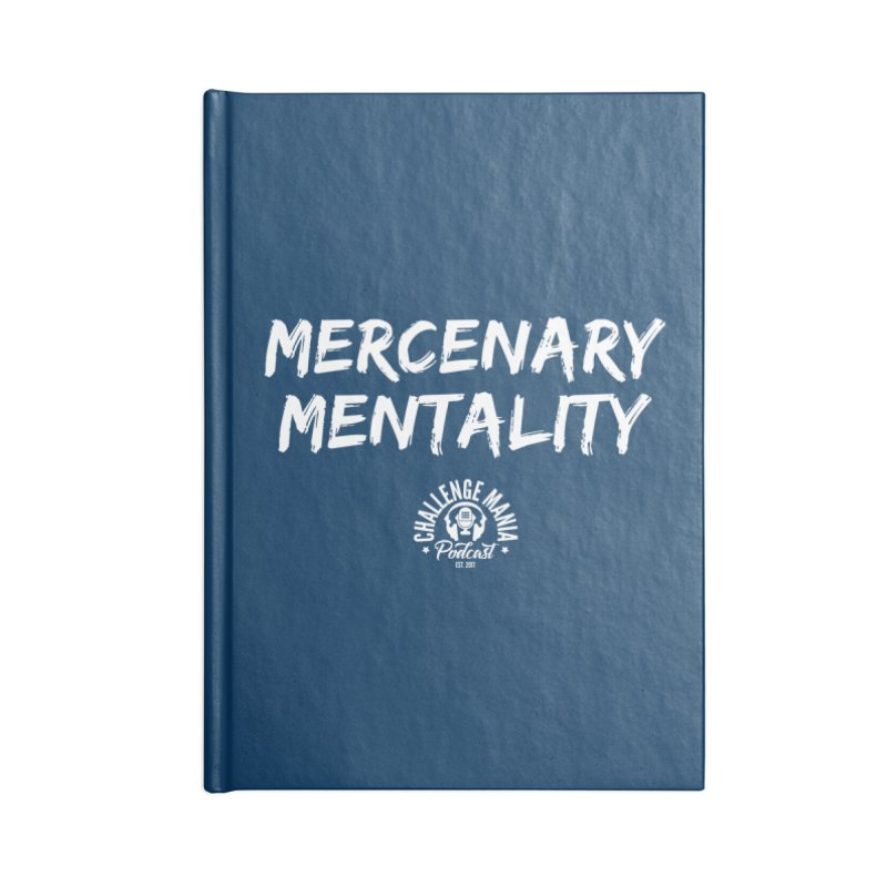 Mercenary Mentality White (2) Accessories Notebook by Challenge Mania Shop