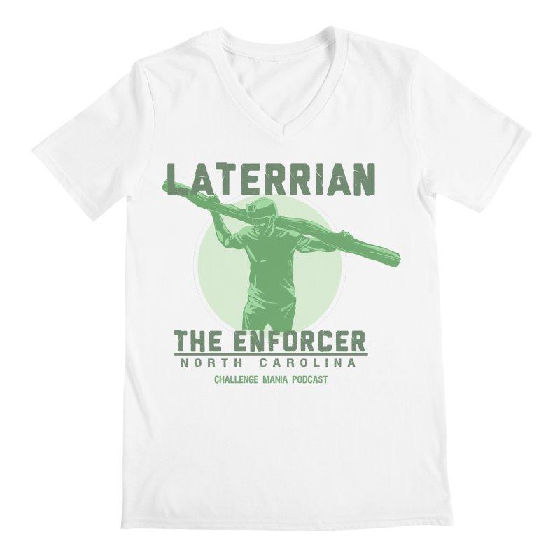 Laterrian: Enforcer Men's V-Neck by Challenge Mania Shop