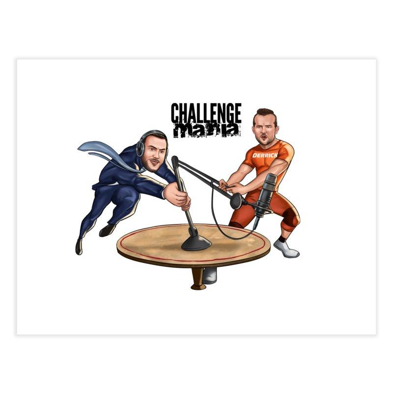 Cartoon Podcast Logo Home Fine Art Print by Challenge Mania Shop